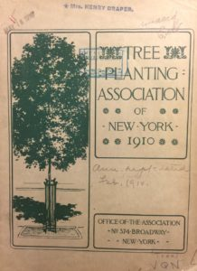 The Tree Planting Association of New York quickly attracted a robust list of members. Image by New York Public Library