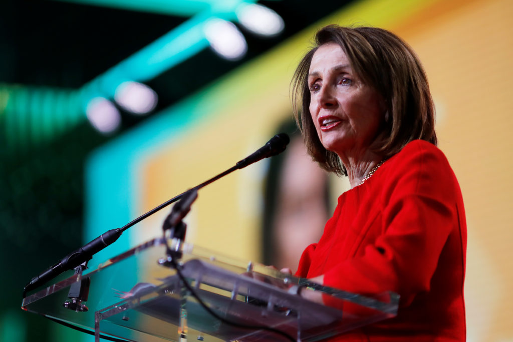 U.S. House Speaker Pelosi (D-CA) addresses the United States Conference of Mayors 87th Winter Meeting in Washington, U.S., January 23, 2019. REUTERS/Carlos Barria