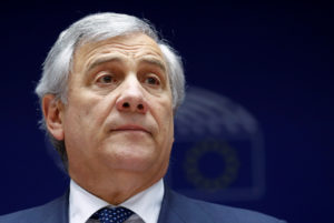 European Parliament President Antonio Tajani is seen at the beginning of a plenary session of the EU Parliament in Brussels, Belgium. Photo by Francois Lenoir/Reuters