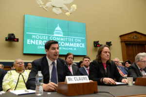 Sprint executive chairman Marcelo Claure and T-Mobile CEO John Legere testify before a House Committee on Energy and Commerce Subcommittee hearing in Washington, D.C. Photo by Erin Scott/Reuters