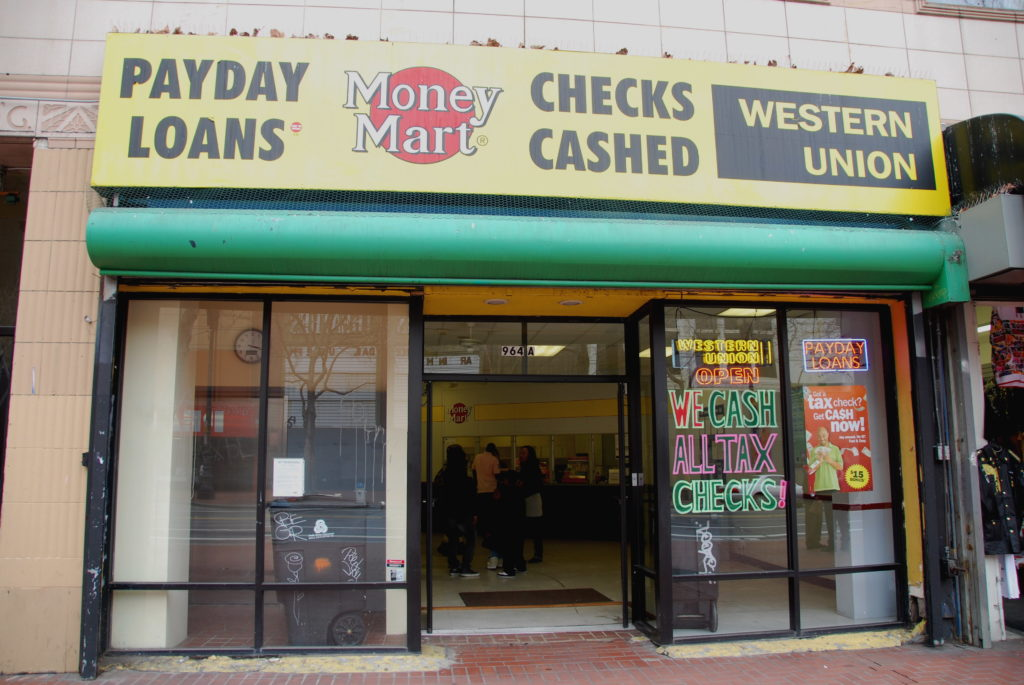 Stock photo of a payday lender store