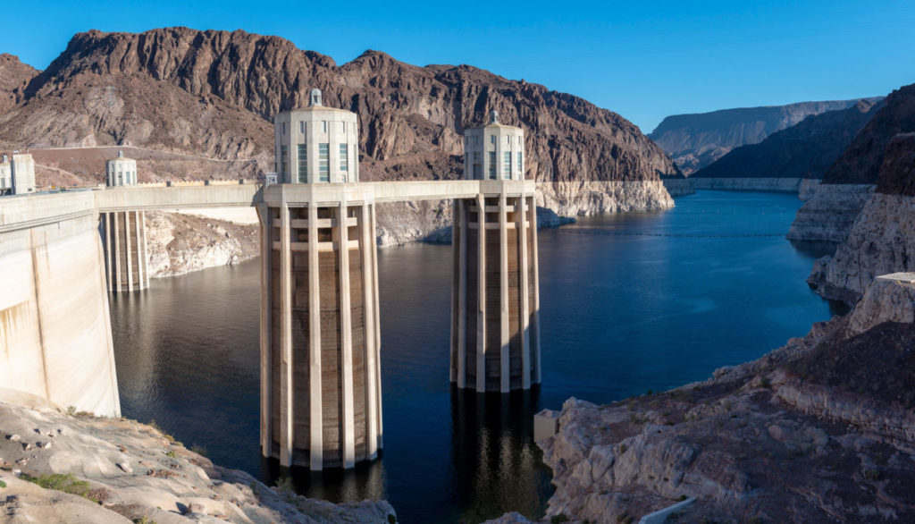 Water levels in Lake Mead at the Hoover Dam in Nevada have hit an all-time low.  Photo by Ted Wood