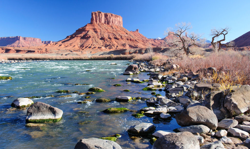The Colorado flows through Castle Valley, near Moab, Utah. Photo by Ted Wood