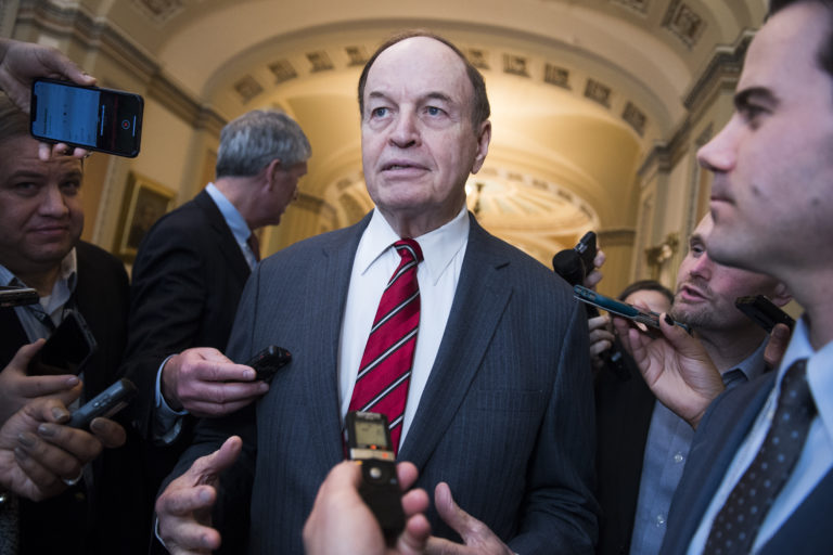 UNITED STATES - FEBRUARY 12: Sen. Richard Shelby, R-Ala., is seen after the Senate Policy luncheons on Tuesday, February 12, 2019. (Photo By Tom Williams/CQ Roll Call)