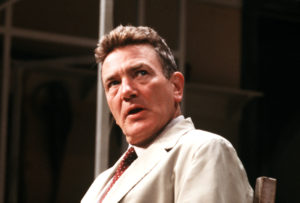 England, Circa 1980s, British actor Albert Finney is pictured during a performance. Photo by Paul Popper/Popperfoto/Getty Images