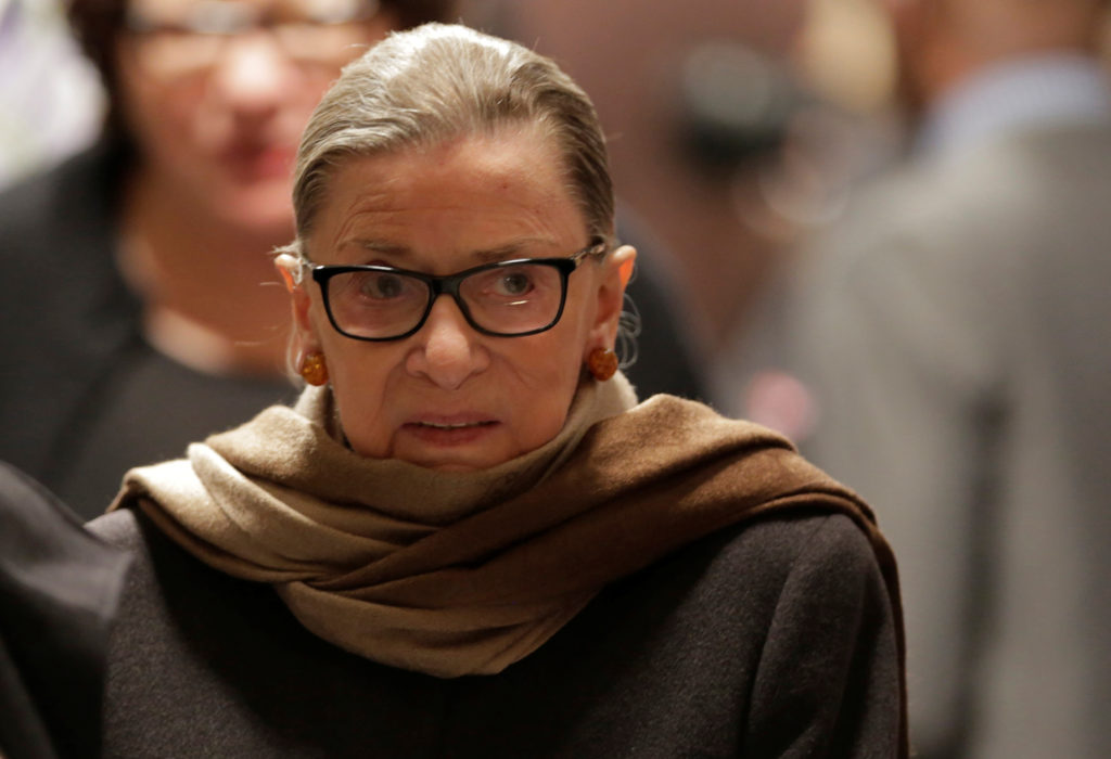 Supreme Court Justice Ruth Bader Ginsburg has been recuperating from lung cancer surgery since late December. Photo by Jos...