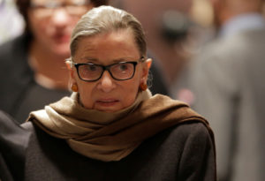 Supreme Court Justice Ruth Bader Ginsburg has been recuperating from lung cancer surgery since late December. Photo by Joshua Roberts/REUTERS.
