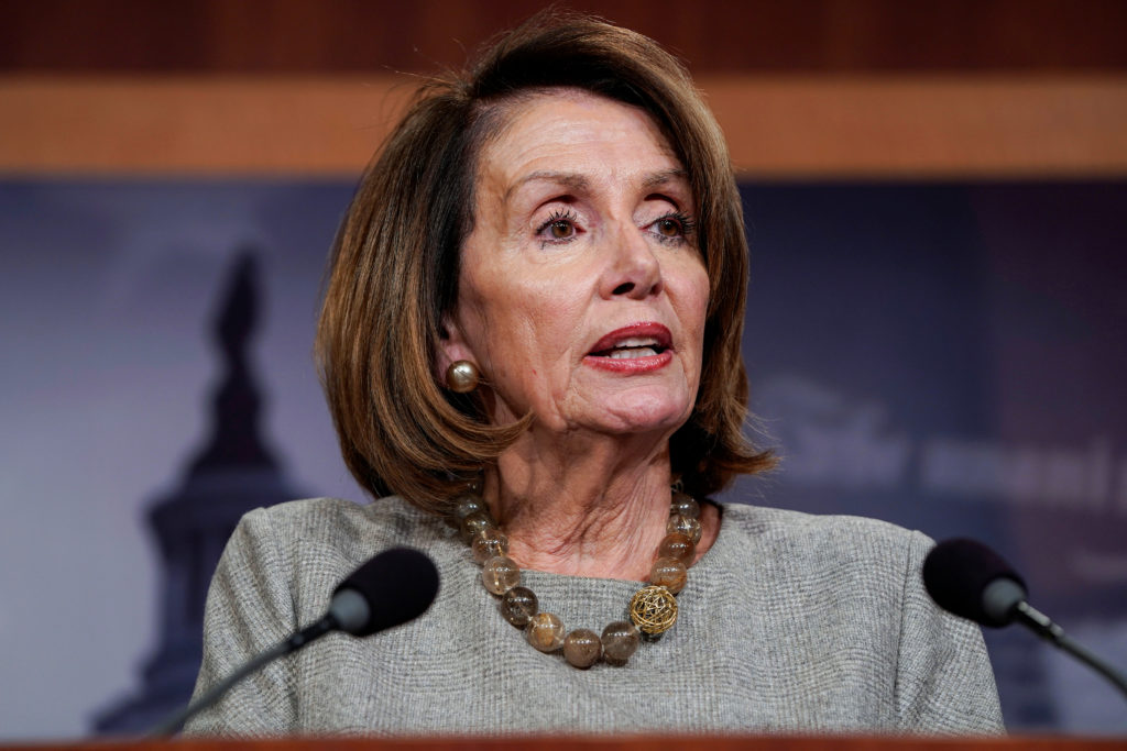 Speaker of the House Nancy Pelosi (D-CA) speaks after U.S. President Donald Trump announced a deal to end the partial gove...