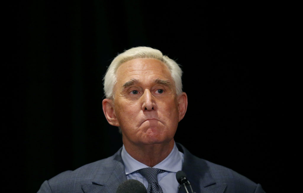 Roger Stone, longtime ally of U.S. President Donald Trump, holds a news conference in Washington, U.S., January 31, 2019. Photo by Leah Millis/Reuters
