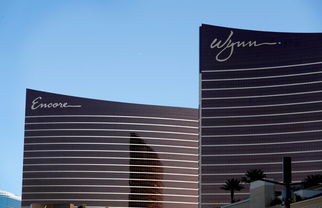 An exterior view of Encore and Wynn properties in Las Vegas, Nevada. Nevada gambling regulators have fined Wynn resorts a record $20 million. Photo by Steve Marcus/Reuters