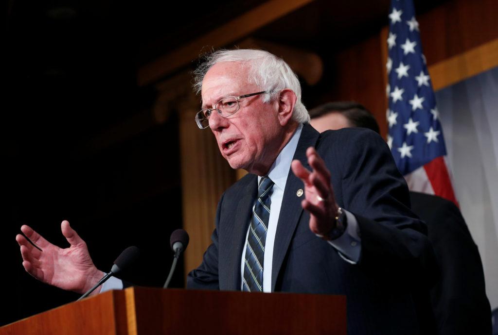 Senator Bernie Sanders (I-VT) speaks after the senate voted on a re…