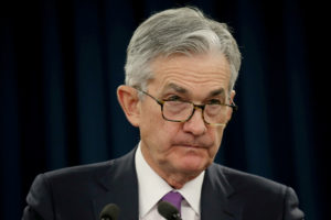 Federal Reserve Chairman Jerome Powell holds a press conference following a two-day Federal Open Market Committee policy meeting in Washington on January 30, 2019. Leah Millis/Reuters