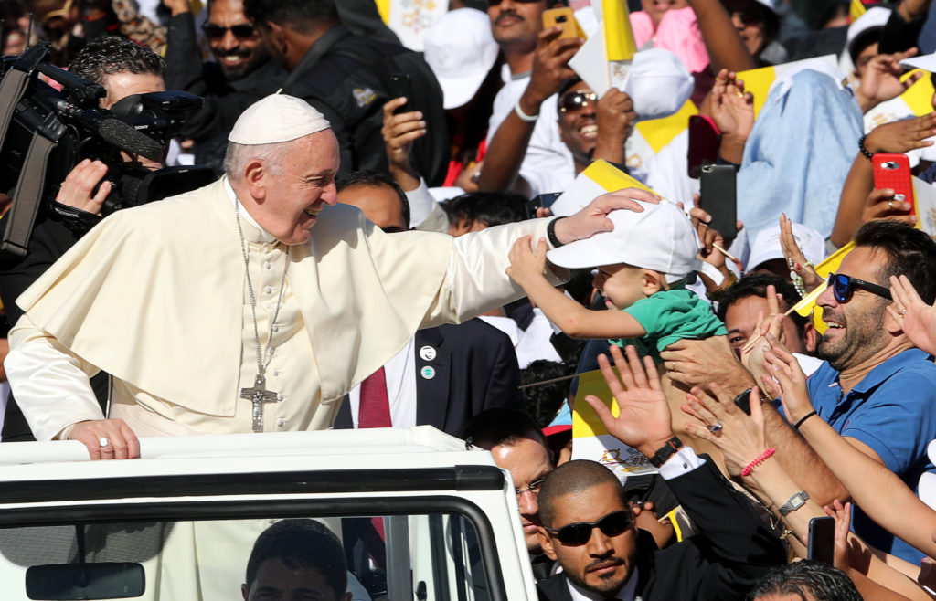 Pope Francis Holds First Papal Mass In Abu Dhabi