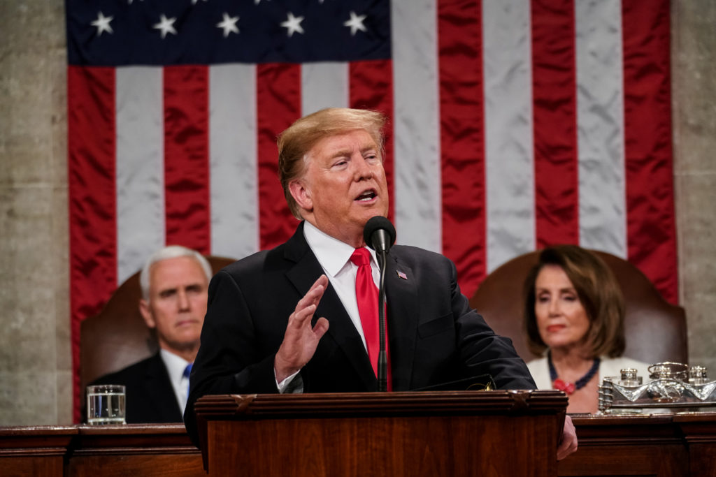 President Donald Trump delivered the State of the Union address, wi…