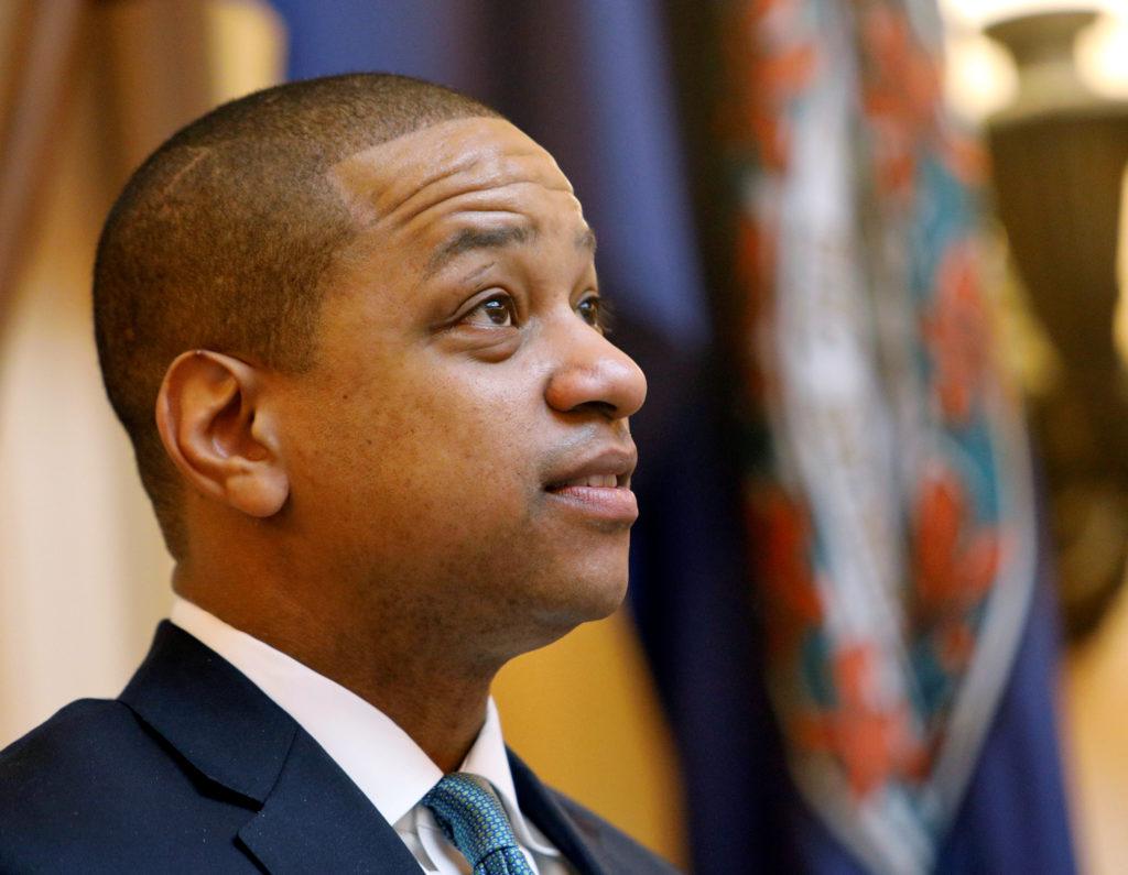 Virginia Lieutenant Governor Justin Fairfax presides over the state's senate in Richmond, Virginia, U.S., February 11, 2019. REUTERS/Jonathan Drake