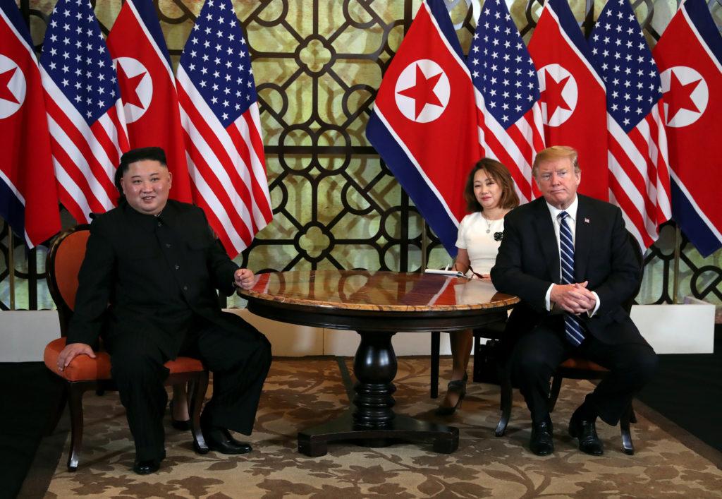 U.S. President Donald Trump and North Korean leader Kim Jong Un rea…