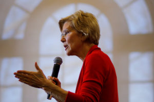 Democratic 2020 U.S. presidential candidate and U.S. Senator Elizabeth Warren (D-Mass.) speaks at Plymouth State University in Plymouth, New Hampshire. Photo by Brian Snyder/Reuters