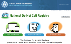 Not much help anymore: the National Do Not Call Registry. Screenshot by The Conversation screenshot, CC BY-ND