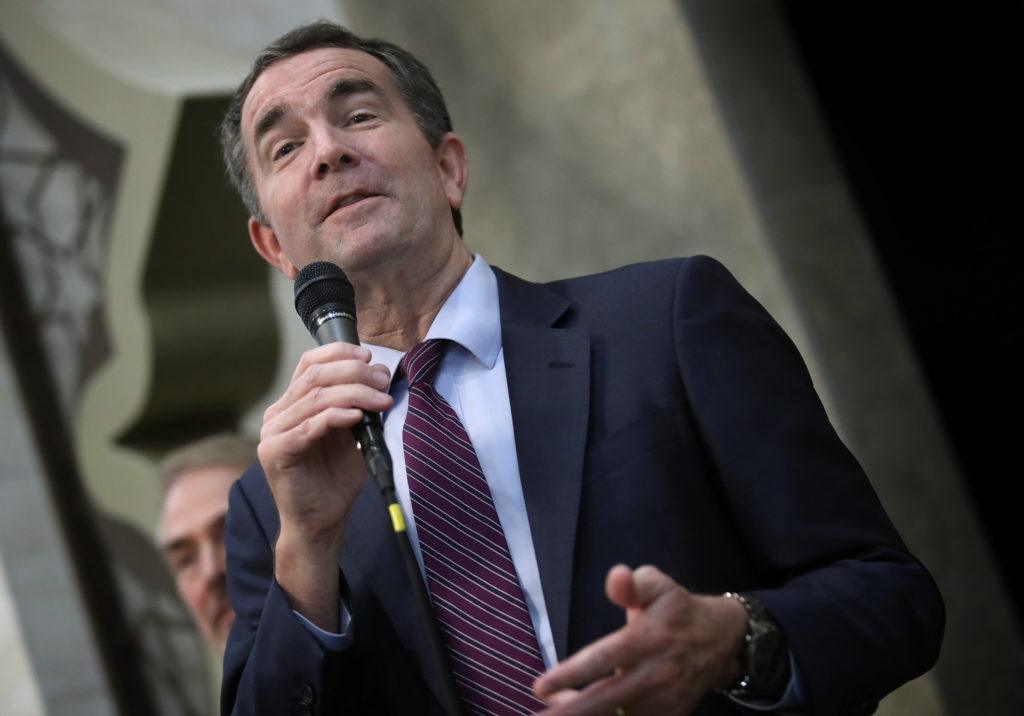 Virginia Democratic candidate for governor, Lt. Gov. Ralph Northam, campaigns at the All Dulles Area Muslim Society following Friday prayers November 3, 2017 in Sterling, Virginia. Virginia will elect the next governor of the state next Tuesday, November 7. (Photo by Win McNamee/Getty Images)
