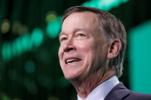 Former Gov. John Hickenlooper (D-Colo.) speaks at the United States Conference of Mayors winter meeting in Washington, D.C. Photo by Yuri Gripas/Reuters