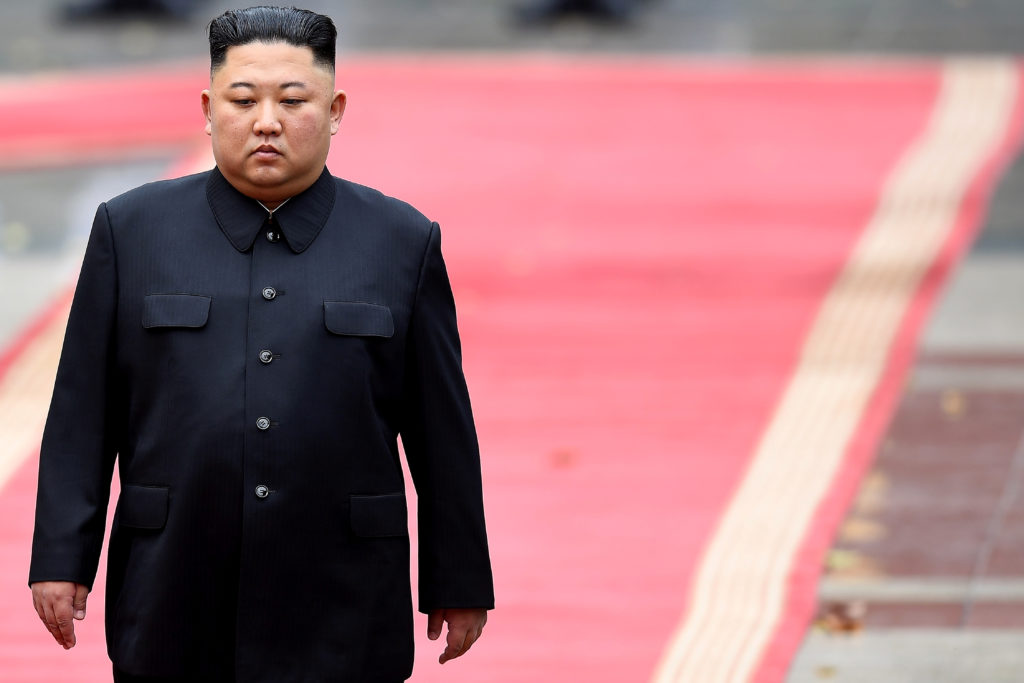 FILE PHOTO: North Korea's leader Kim Jong Un attends a welcoming ce…