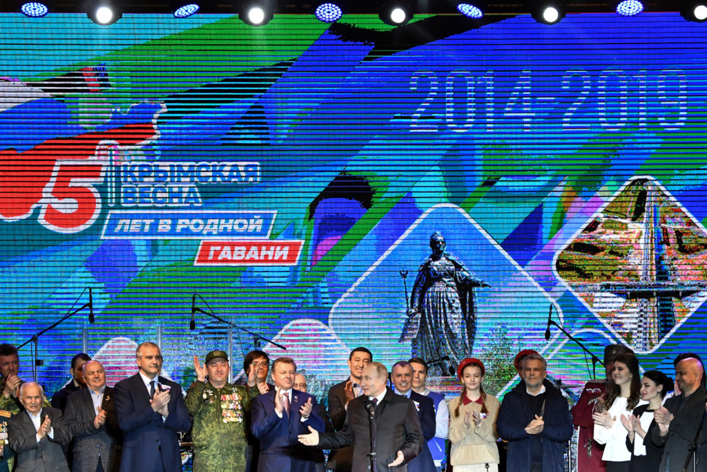 Putin marks 5th anniversary of Russia's annexation of Crimea