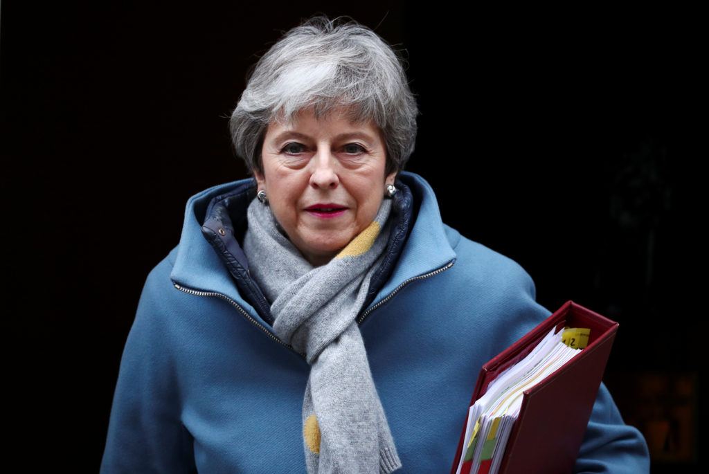 Britain's Prime Minister Theresa May is seen outside Downing Street…