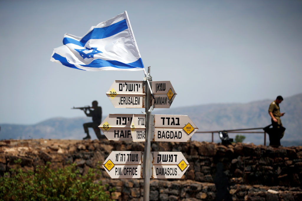U S  abruptly endorses Israel's sovereignty over Golan