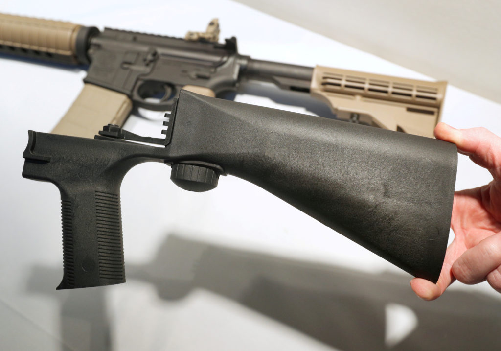 5e60778bd4b4b Bump stocks are turned in or destroyed as ban takes effect | PBS NewsHour