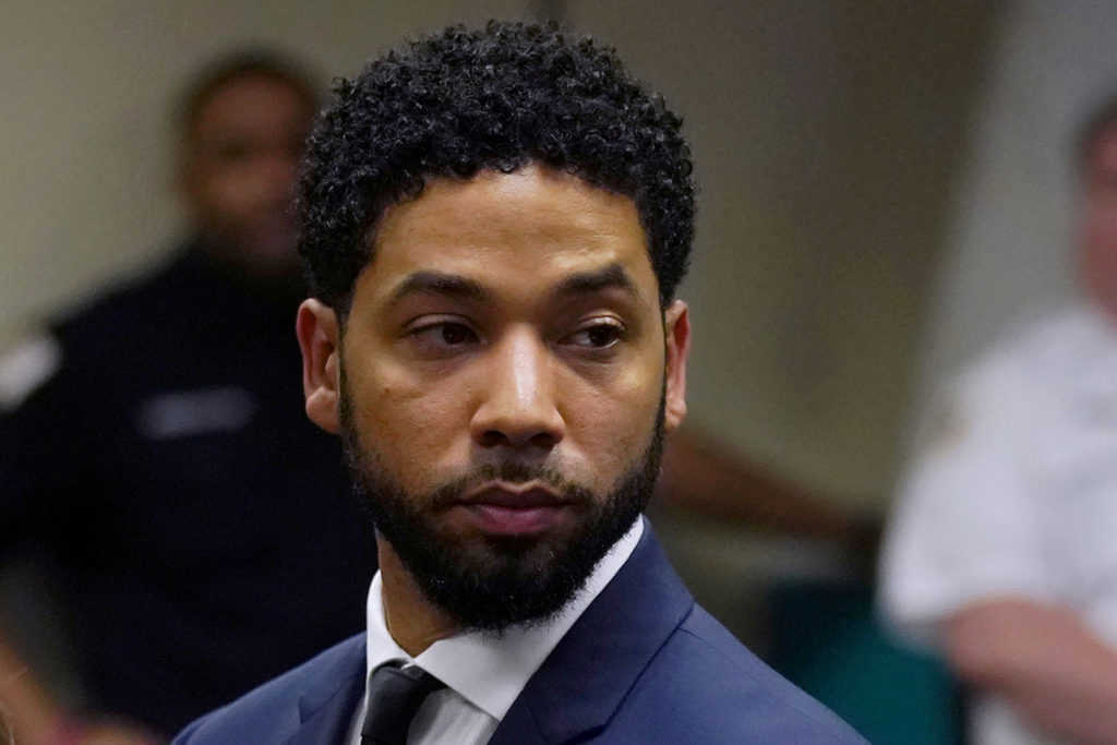 Actor Jussie Smollett makes a court appearance at the Leighton Criminal Court Building in Chicago, Illinois. Photo by E. Jason Wambsgans/Reuters