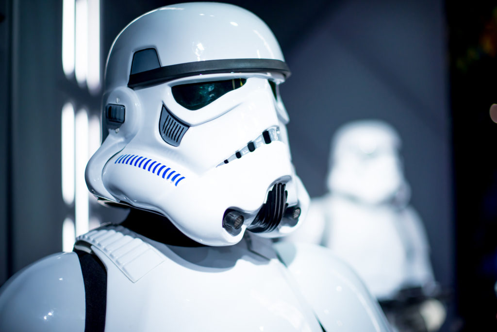 Stormtroopers are identical masked soldiers of Star Wars fame. Because of their uniformity, researchers named a newly-described group of spiders after them. Image courtesy of Jason Trbovich