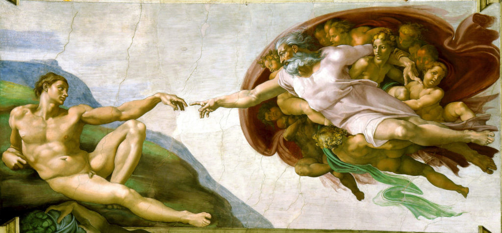 The Creation of Adam by Michelangelo. Photo by Larry Koester/via Flickr