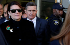 Former U.S. national security adviser Michael Flynn departs after his sentencing was delayed at U.S. District Court in Washington, on December 18, 2018. Photo by Joshua Roberts/Reuters