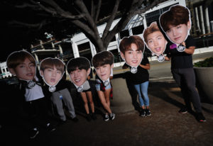 """Fans await the BTS concert as part of the 2018 """"Love Yourself"""" tour at Staples Center in Los Angeles. Photo by Chelsea Guglielmino/Getty Images"""