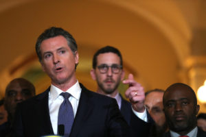 California Gov. Gavin Newsom speaks during a news conference at the state Capitol on March 13, 2019 in Sacramento, California. Photo by Justin Sullivan/Getty Images