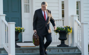 Attorney General William Barr leaves his house after Special Counsel Robert Mueller found no evidence of collusion between President Donald Trump's campaign and Russia in the 2016 election in McClean, Virginia on March 25, 2019. Photo by Joshua Roberts/Reuters