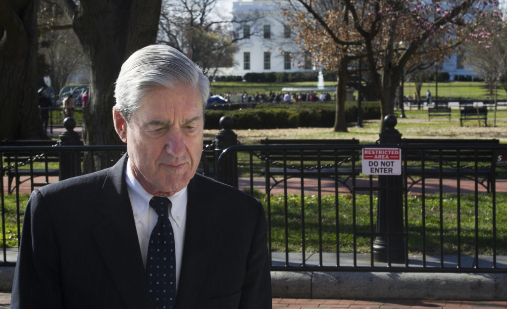 Special Counsel Robert Mueller walks past the White House after attending services at St. John's Episcopal Church, in Washington, Sunday, March 24, 2019. Photo by AP Photo/Cliff Owen)