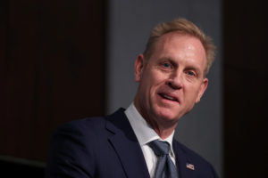 Acting U.S. Secretary of Defense Patrick Shanahan speaks at a forum in Washington, D.C. on March 20, 2019. Photo by Jonathan Ernst/Reuters