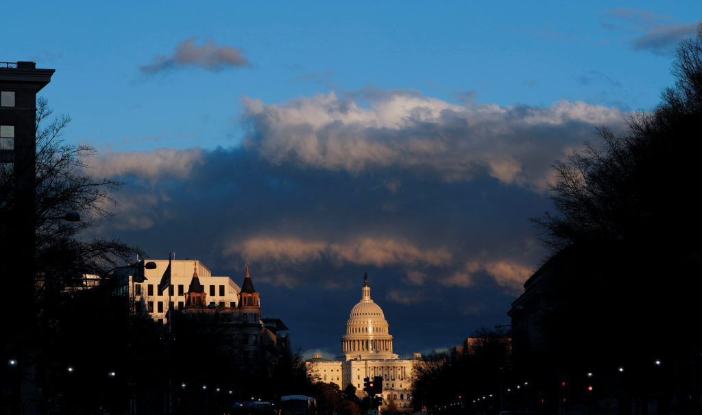The U.S. Capitol is seen after Special Counsel Robert Mueller handed in his report to Attorney General William Barr on his...