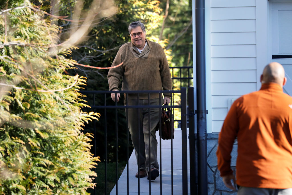 U.S. Attorney General William Barr leaves his house in McLean, Virginia, U.S, March 23, 2019. Photo by Yuri Gripas/Reuters