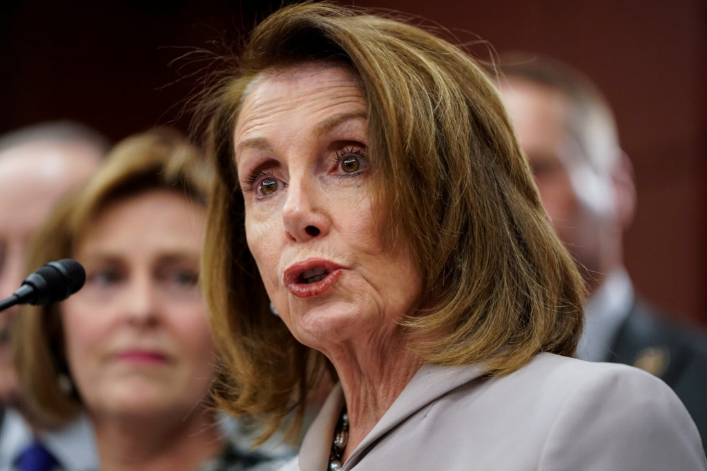 Speaker of the House Nancy Pelosi, D-Calif. speaks during the intro…