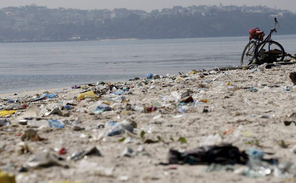 Rubbish is pictured at Fundao beach, on the banks of the Guanabara Bay, in Rio de Janeiro, Brazil on July 30, 2015. Photo by Sergio Moraes/Reuters