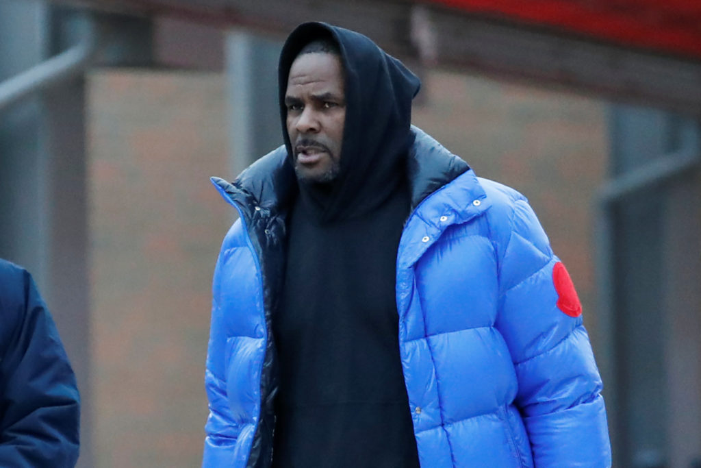 R. Kelly leaves Cook County jail in Chicago, Illinois, on February 25, 2019. Photo by Kamil Krzaczynski/Reuters