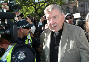 Cardinal George Pell arrives at County Court in Melbourne, Australia, February 27, 2019. Photo: AAP Image/David Crosling/via Reuters