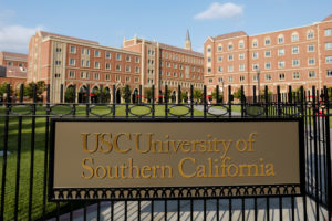 The University of Southern California is one of several universities named in a lawsuit that alleges students were denied a fair opportunity for admission because of a bribery scandal. Photo by Mike Blake/Reuters