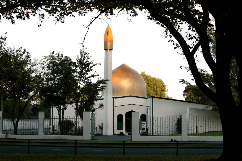 A view of the Al Noor Mosque on Deans Avenue in Christchurch, New Zealand, taken in 2014.  Photo by Martin Hunter/SNPA/Reuters