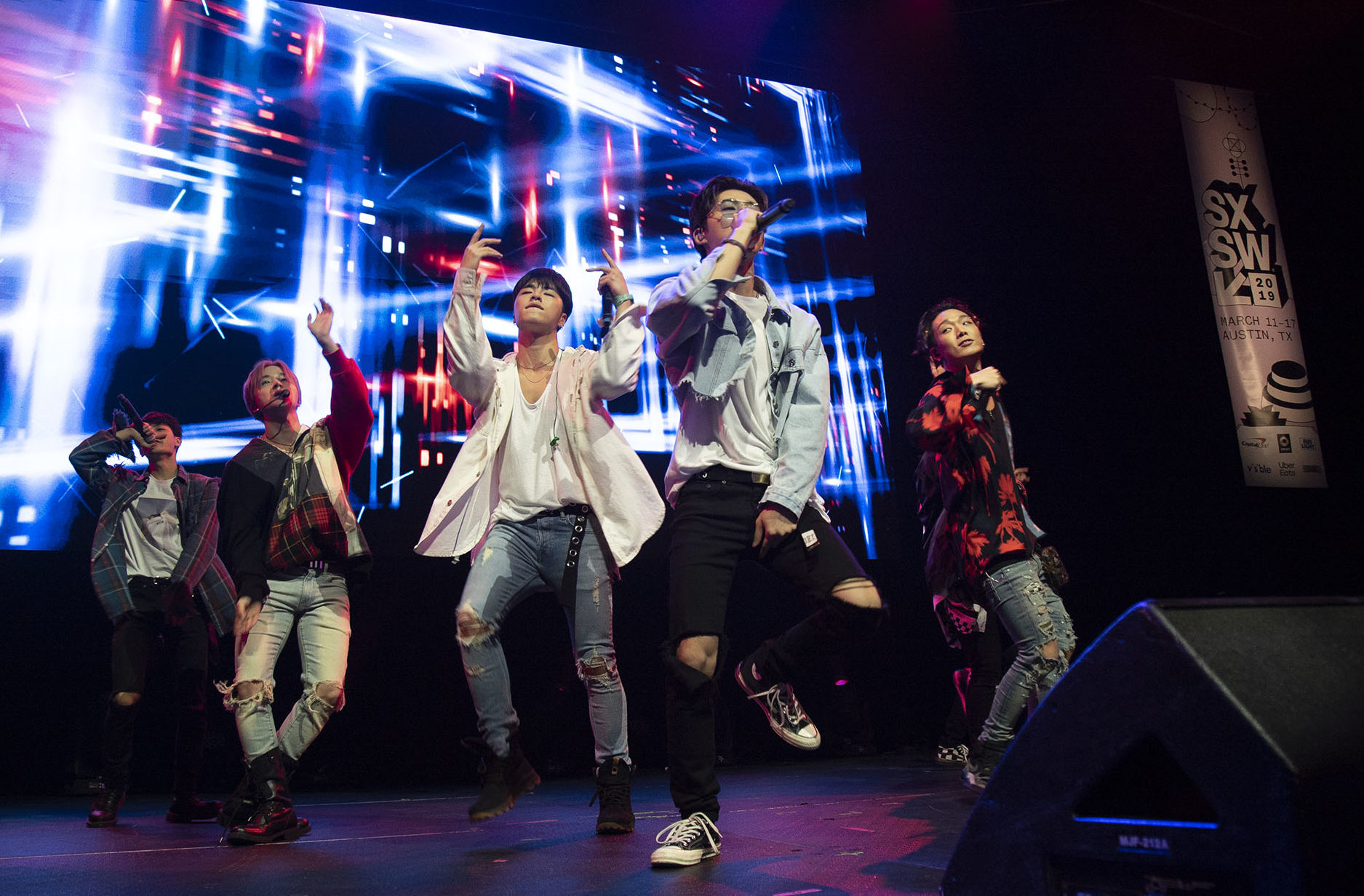 "K-pop boy band iKON made their U.S. debut at this year's SXSW ""Korean Spotlight"" showcase. Photo by Joshua Barajas/PBS NewsHour"