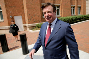 FILE PHOTO: President Trump's former campaign chairman Paul Manafort departs U.S. District Court after a motions hearing in Alexandria, Virginia, U.S., May 4, 2018. REUTERS/Jonathan Ernst/File Photo