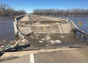 Nebraska State Patrol picture of a bridge near Genoa.