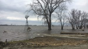 Nearly all of a family's 2,800-acre farm flooded in Watson, Missouri, after intensive flooding in March along the Missouri River. Photo by The Pew Charitable Trusts